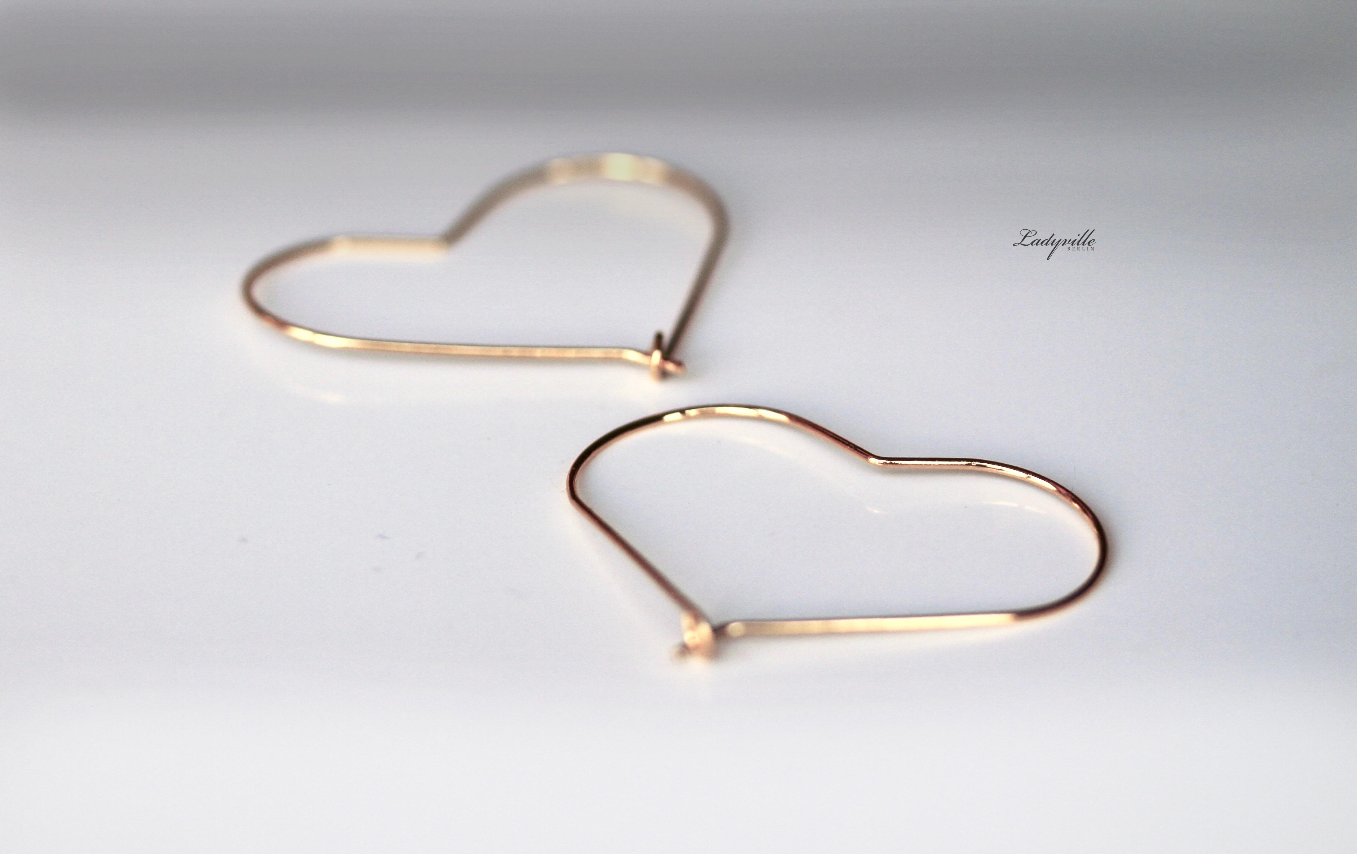 Ladyville Vergoldete Ohrringe Herz Creolen Geschenk Fur Sie