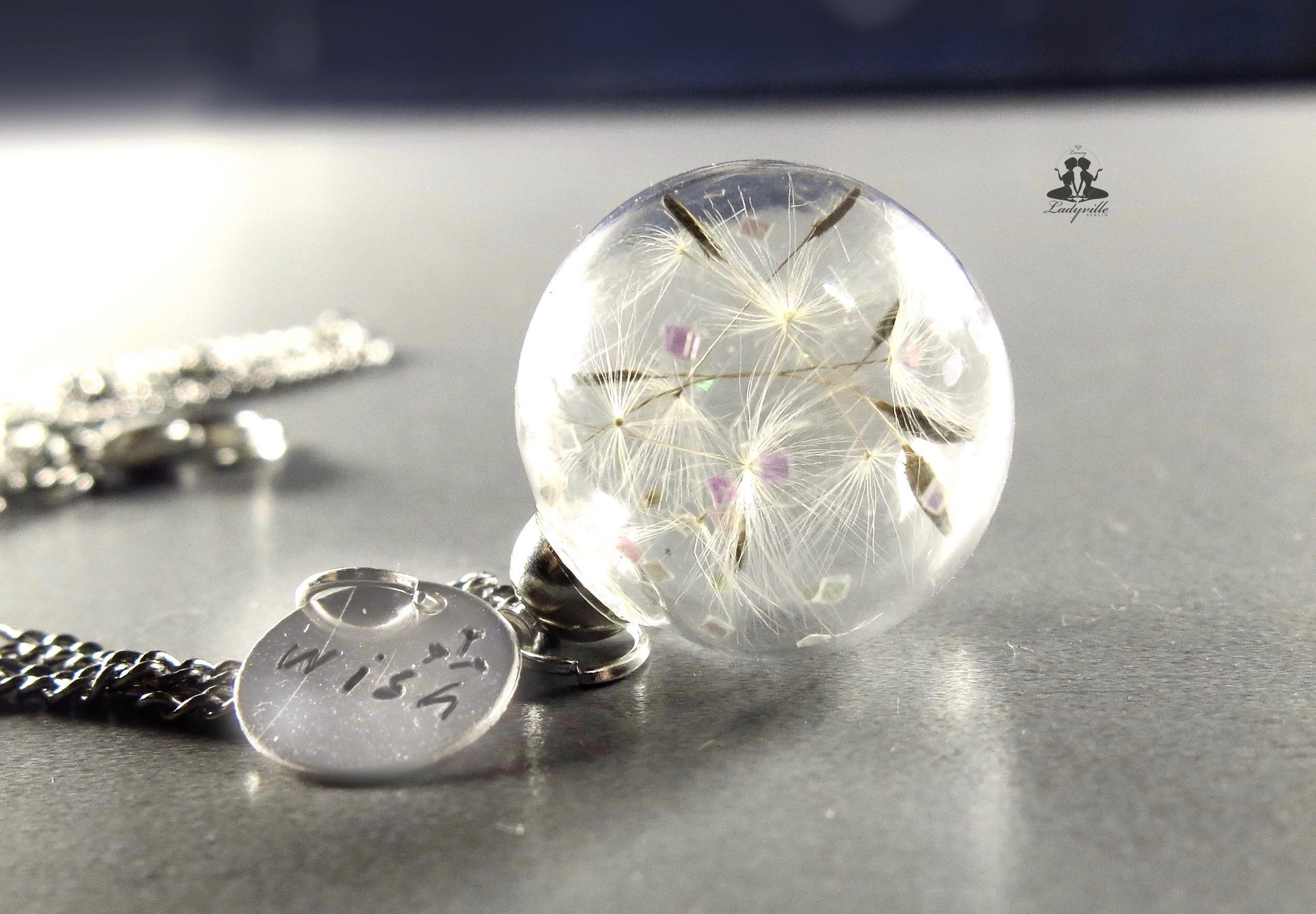 ladyville pusteblume kette schmuck echte bl te sterling silber 925 geschenk weihnachten. Black Bedroom Furniture Sets. Home Design Ideas