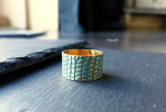 Vintage Gold Ring Reptil mit Patina
