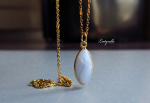 Kette - Blue Lace Agate Sterling Silber Gold