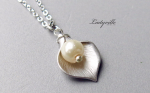 925 Sterling Silber Kette, Calla mit Perle